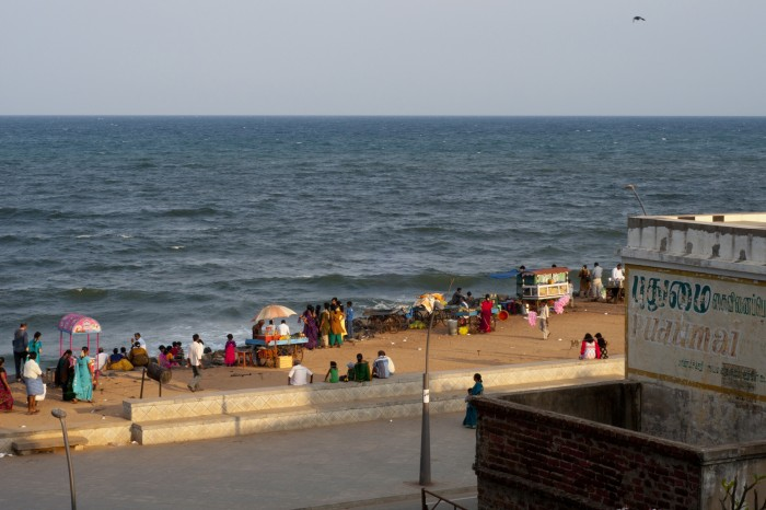 The beach view from our hotel room