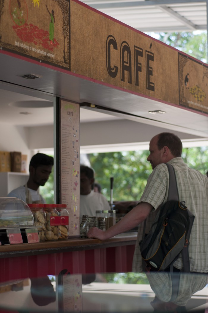 A cafe at Auroville