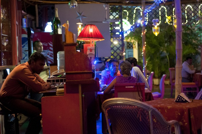 Pondicherry was full of strange, French-Indian restaurants with colorful, mismatched decor.