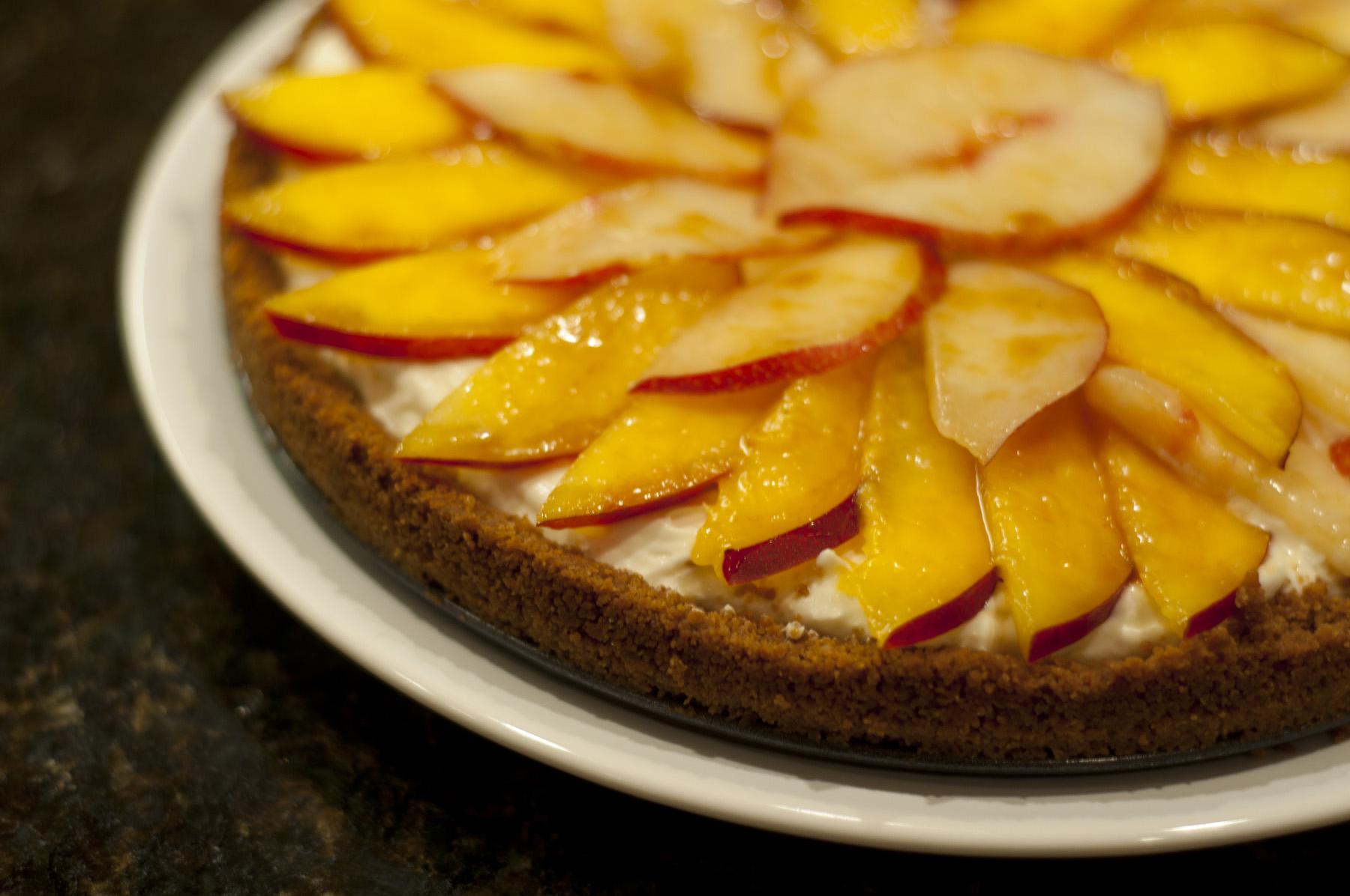 Nectarine, Mascarpone And Gingersnap Tart Recipe — Dishmaps